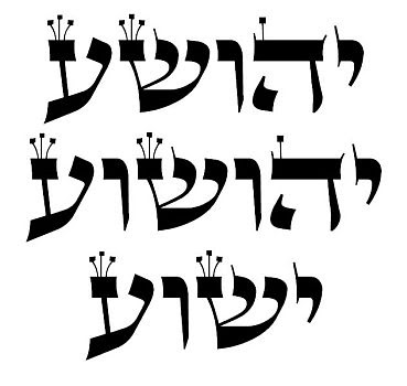 Variations of the Hebrew name Yeshua