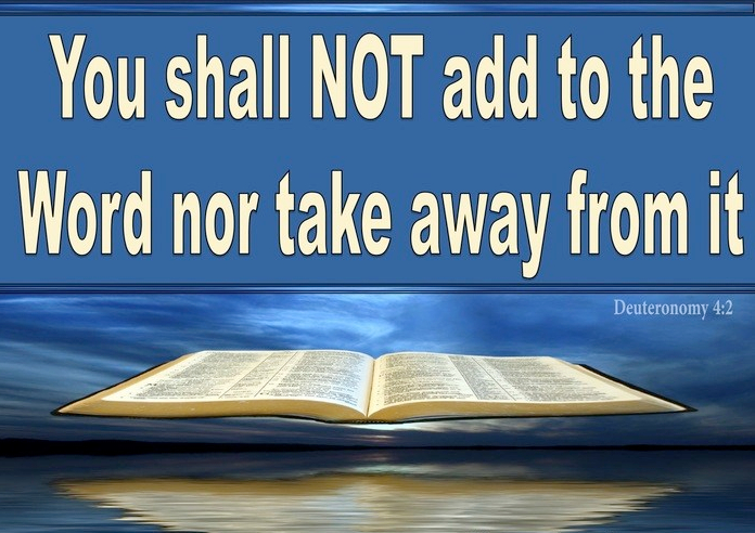 Deuteronomy 4-2 Do Not Add To Or Take Away From The Word Of God blue