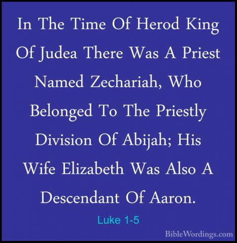 Luke 1:5