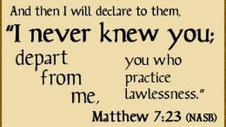 Matthew 7:23