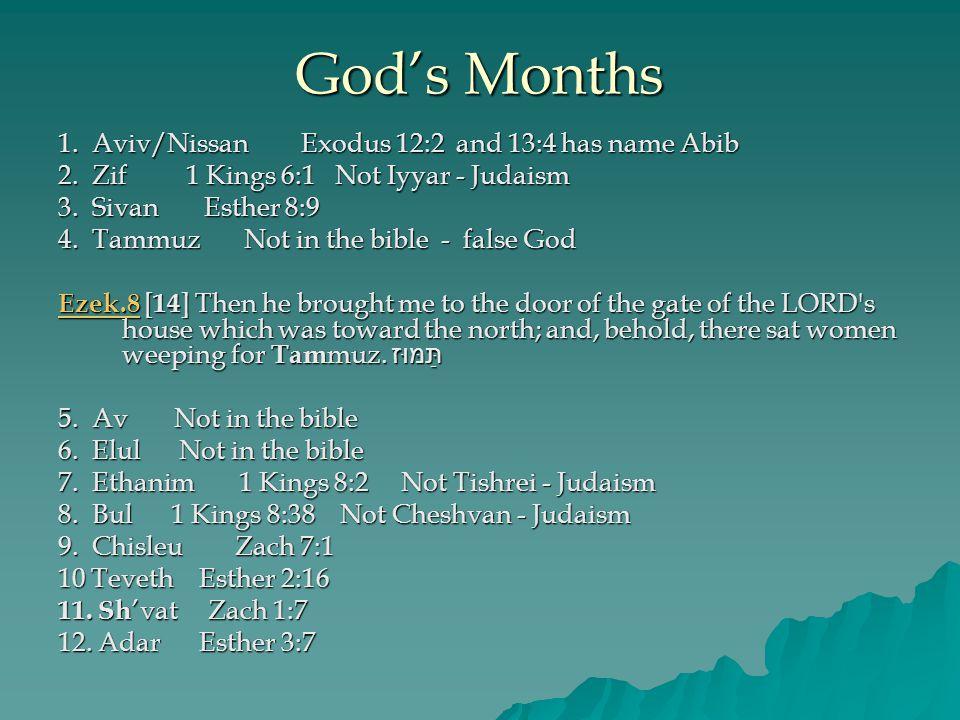 Bible months