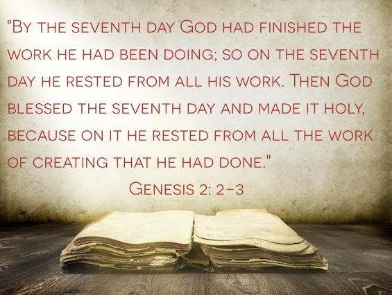 Genesis 2:2,3