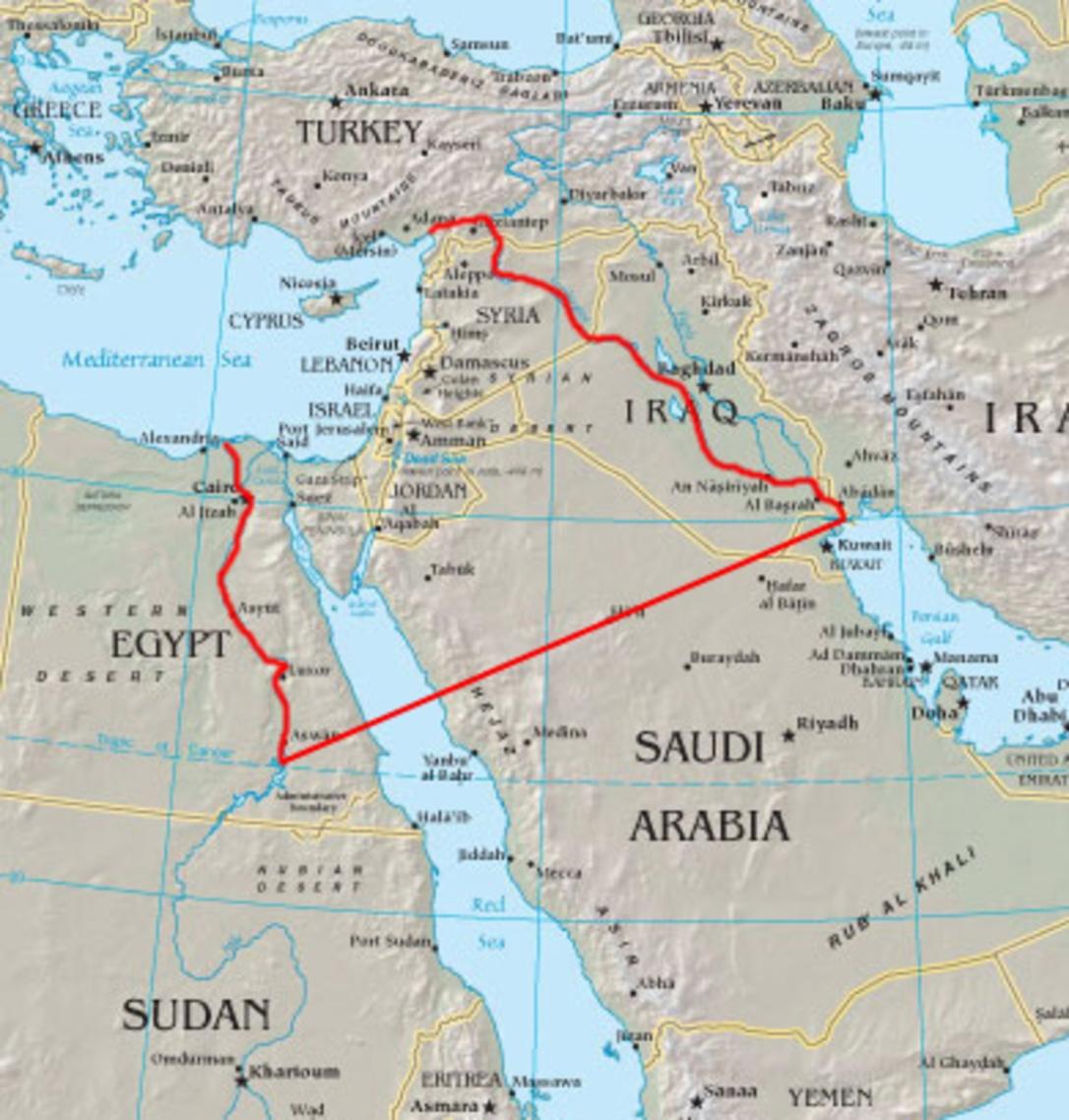 map full Israel