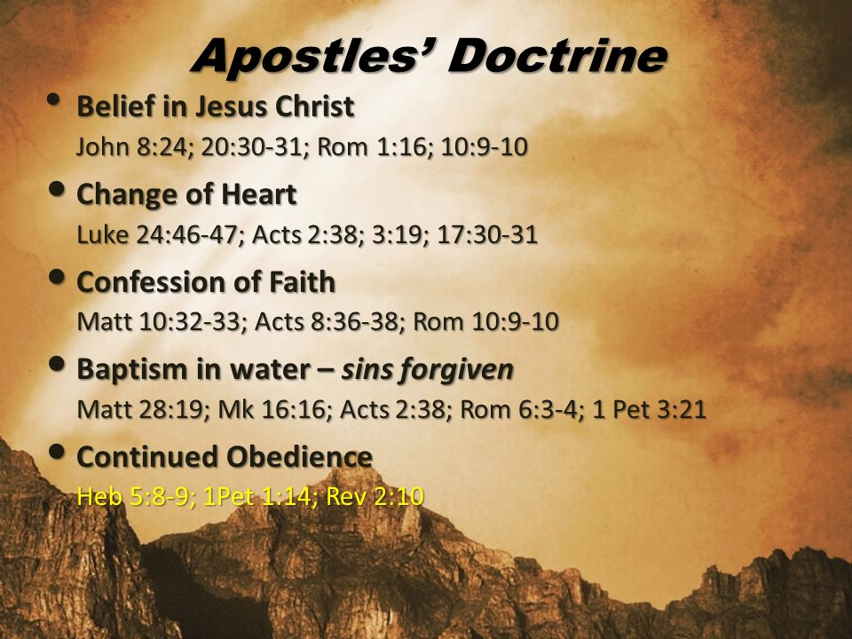 Apostle`s doctrine