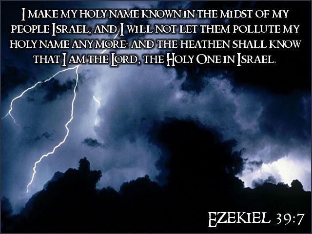Ezekiel 39:7