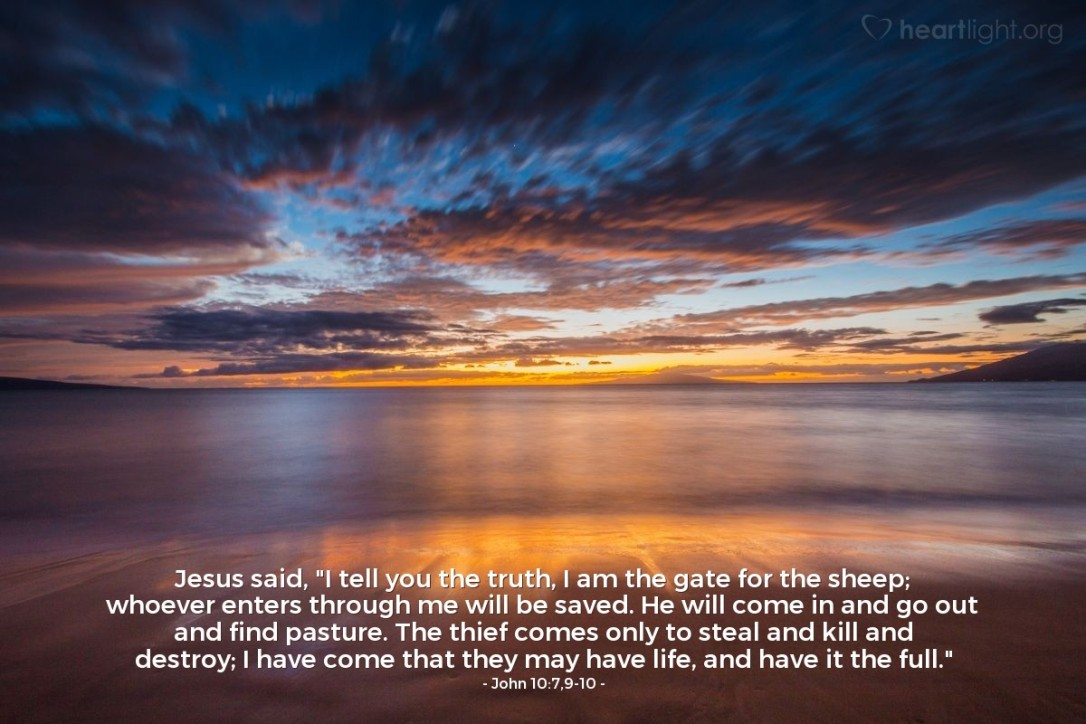 John 10:7,9,10