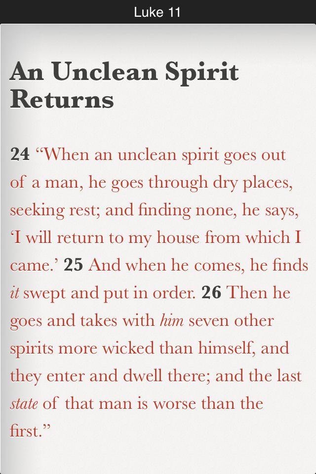 Luke 11:24-26