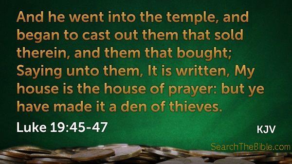 Luke 19:45-47