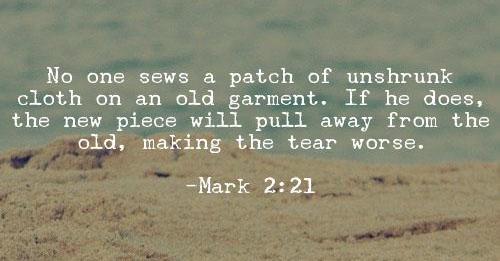 Mark 2:21