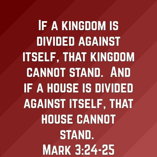 Mark 3:24-25