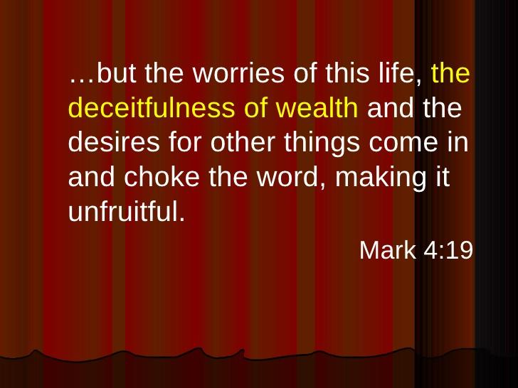 Mark 4:19