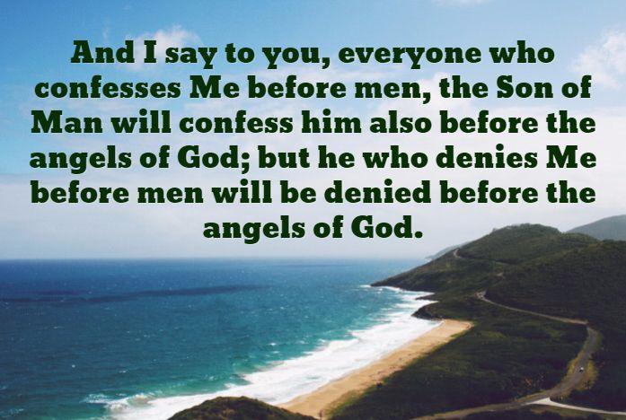 Luke 12:8-9