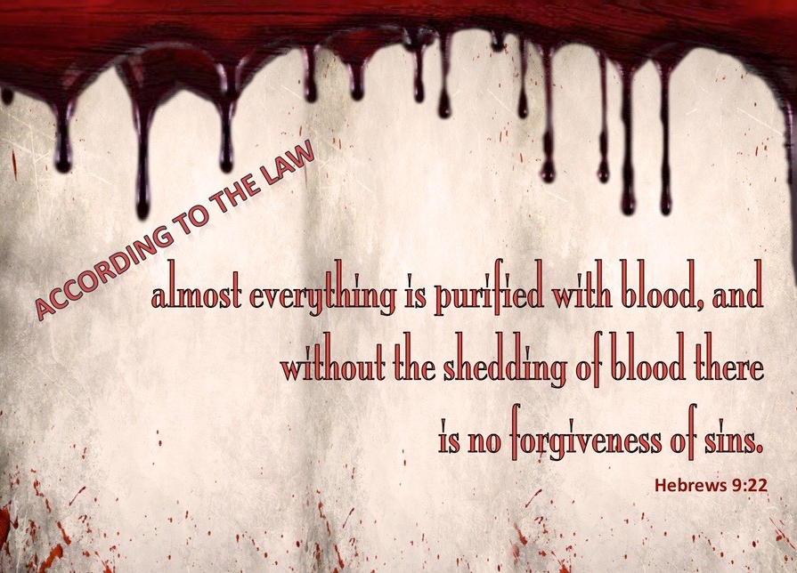 Hebrews 9-22 Without The Shedding of Blood There is No Forgiveness red